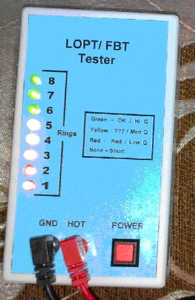 Flyback Tester Fbt Tester Lopt Tester home made flyback tester electronics repair and
