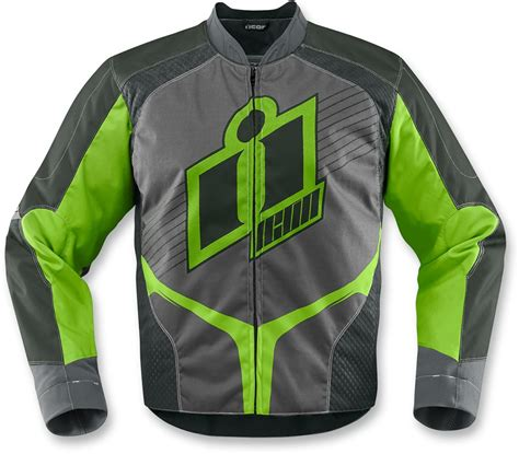green motorcycle jacket icon overlord mens green textile motorcycle jacket