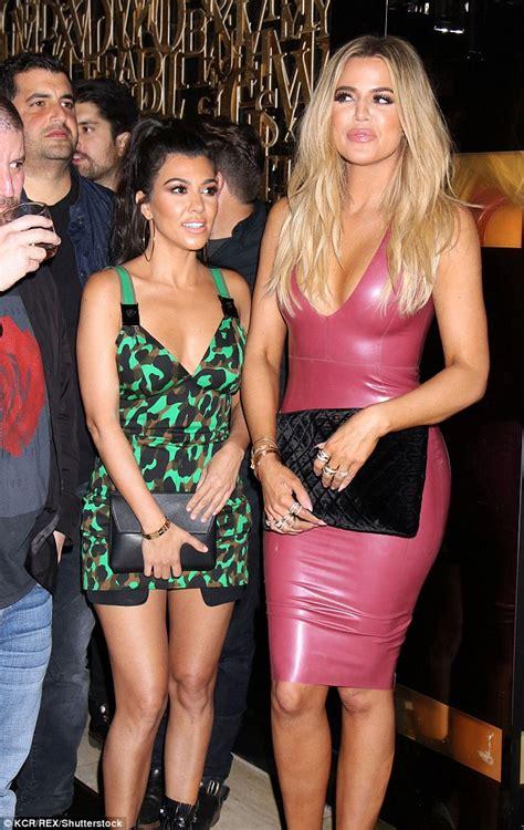house of shoes las vegas khloe kardashian pours herself into pvc dress as she celebrates scott disick s
