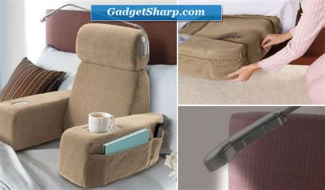 bed rest pillow with cup holder 7 multifunctional bed pillows for reading in bed gadget