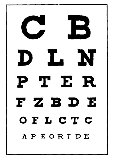printable toddler eye chart vision it s more than 20 20 transitions and a