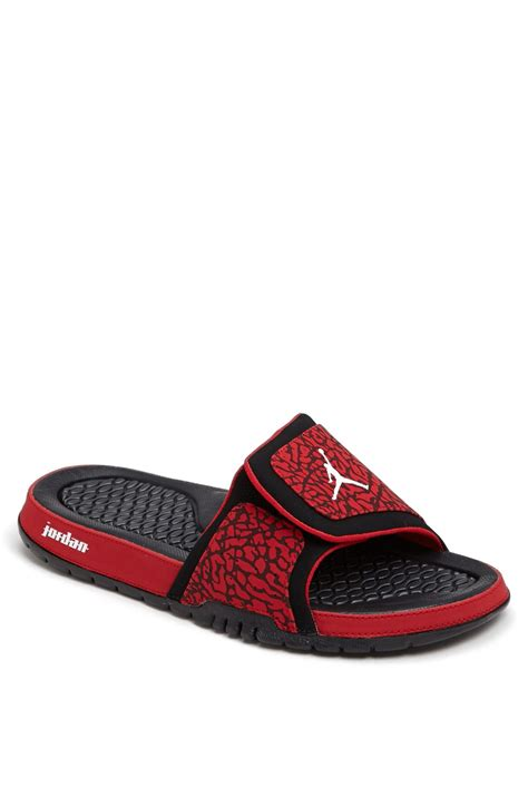 men jordan 2 hydro c nike jordan hydro ii sandal in red for men red white