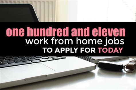 List Of Online Jobs To Work From Home - the massive list of 111 legit work from home jobs