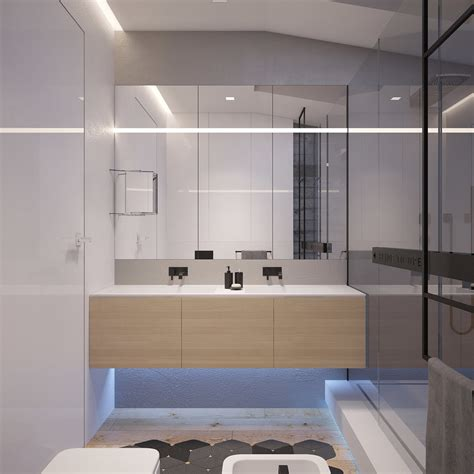 bedroom flat  kiev  sleek contemporary features