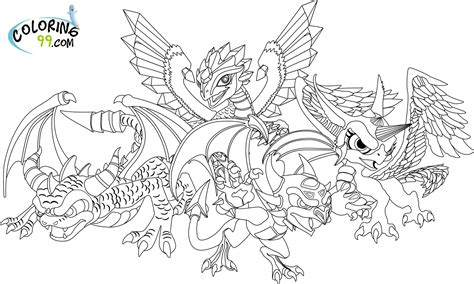 Skylanders Dragons Coloring Pages | skylanders coloring pages team colors