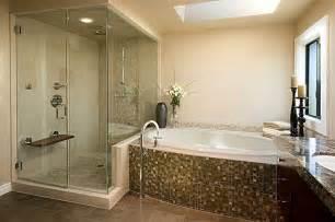 Modern master bathroom with master bathroom by chermak construction