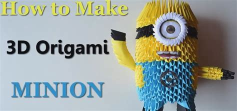 How To Make Paper Minions - how to make origami minion 171 origami wonderhowto
