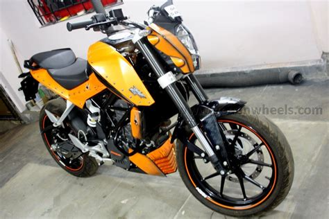 Ktm Duke 200 Tank Ktm Duke Gets More Orangey