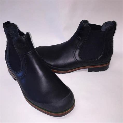 ugg australia matteson leather ankle boots black size 11