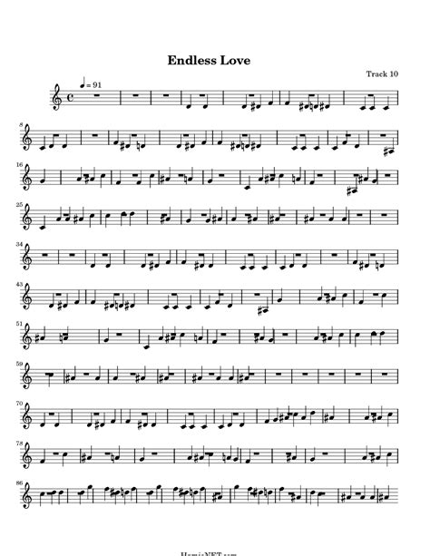 endless love sheet music music for piano and more endless love sheet music endless love score hamienet com