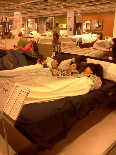 slumber up bed ikea slumber party pajama d crowd hops into ikea beds