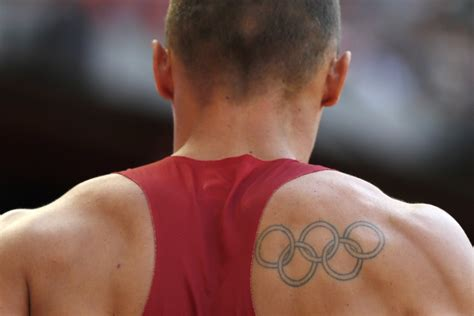 olympic rings small tattoo for ioc back olympic rings tattoos at 2016 after swimmer s