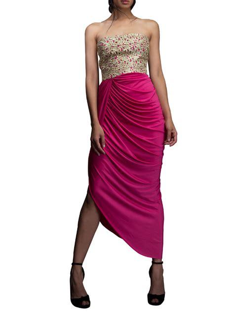designer draped dresses indian fashion designers siddartha tytler contemporary