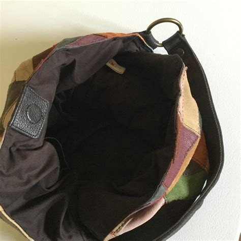 Lucky Brand Patchwork Hobo Bag - lucky brand multi leather suede patchwork slouch hobo bag
