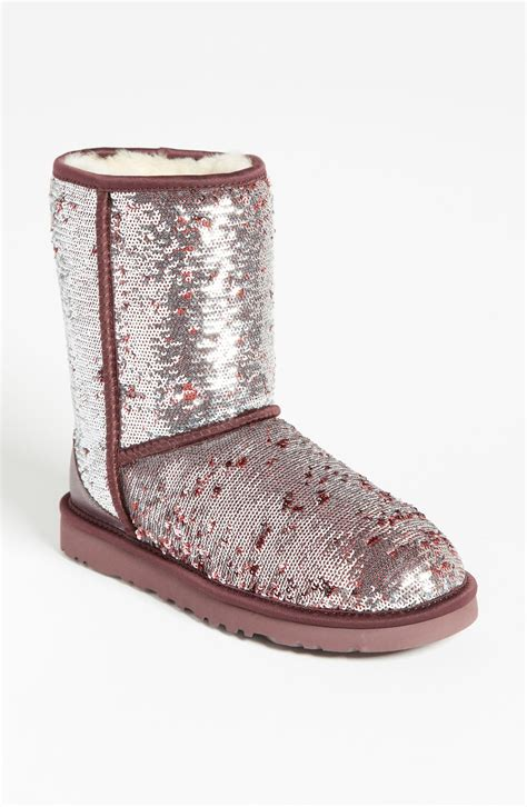 ugg sparkle boots ugg classic sparkle boot in multicolor sangria