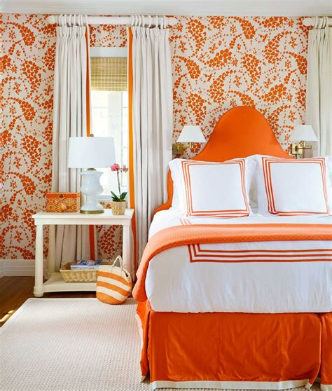 orange bedroom monochromatic style in the bedroom one color many meanings