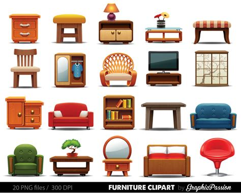 Home Furniture And Items | furniture clipart clipart furniture home decor clipart home