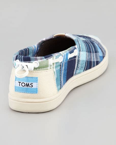 boat shoes youth toms bimini blue madras boat shoe youth