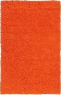 Orange Rug Shaggy Wram Soft Carpet Fluffy Modern Rugs Modern Orange Rug