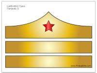 colored  woman tiara template halloween costumes