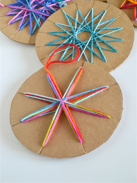 cardboard yarn ornaments modern christmas yarns and