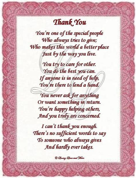 poems to say thank you for wedding gifts thank you poem