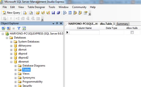 cara membuat database sql xp cara membuat database sql server tips seputar sistem