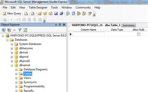 membuat database sql cara membuat database sql server tips seputar sistem