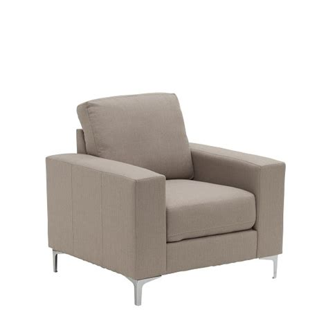 stylish sofas and chairs bailey stylish sofa chair in oyster fabric 32543 furniture
