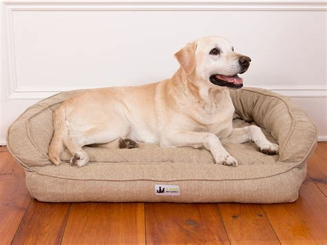 ez wash premium headrest memory foam dog bed hemp  dog
