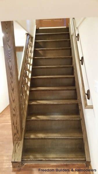 staircase rebuilding freedom builders amp remodelers