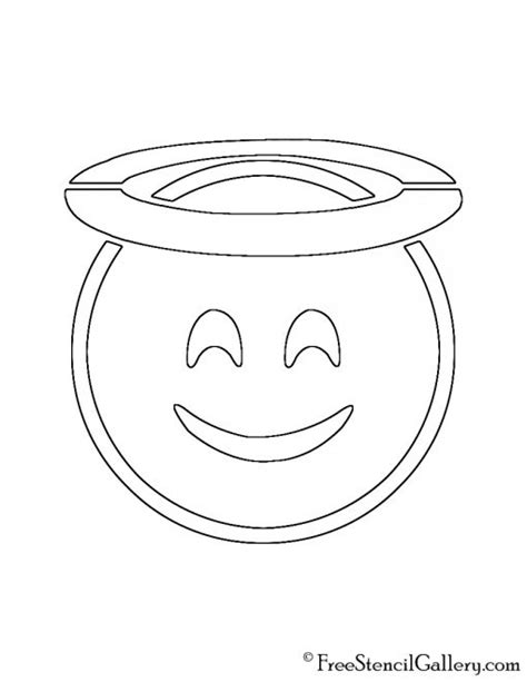 printable pumpkin stencils emoji emoji halo stencil free stencil gallery