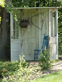 Garden Door Ideas Garden Shed Made Of Old Doors 1001 Gardens