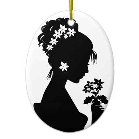 victorian cameo silhouette christmas ornament zazzle