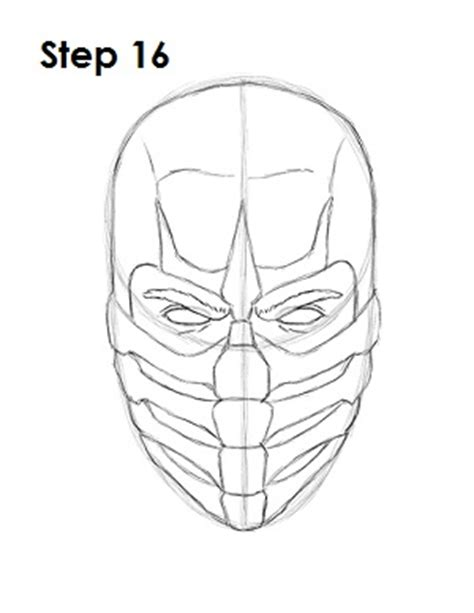 how to draw scorpion from mortal kombat x easy things to how to draw scorpion