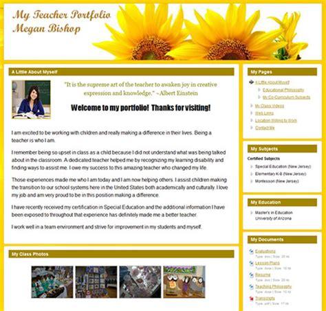 Teaching Portfolio Template Free by Create Your Free Professional Career Portfolio Website