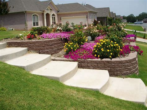 small sloped backyard landscaping landscaping ideas for backyard hill landscaping