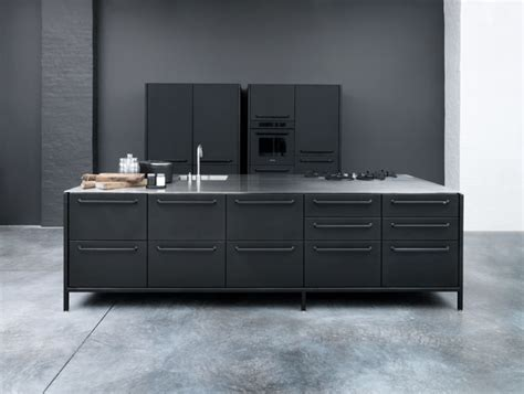 Black Metal Kitchen Cabinets Modular Stainless Steel Kitchen From Vipp Freshome