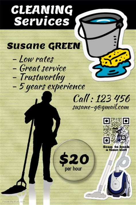 cleaning services advertising templates cleaning services flyer and poster postermywall template