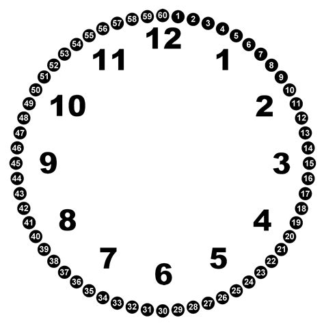 printable clock with hours and minutes blank clock faces clipart best
