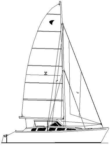 catamaran cruising costs coral sea 35 35 ft plywood v hull low cost cruising