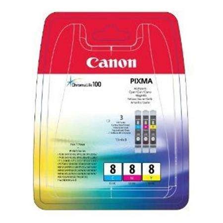 Canon Cli 8c Cartridge Original canon cli 8 c m y med chip farve bl 230 kpatron original