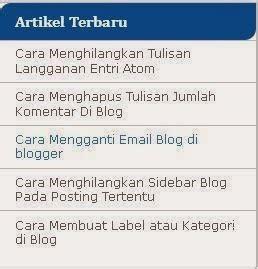 cara membuat daftar pengunjung di blog wordpress cara membuat daftar artikel terbaru di blog trick ini blog