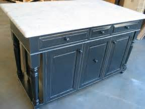 quot 60 distressed black kitchen island with granite quot