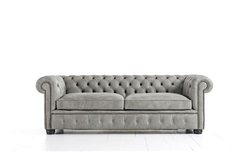 gray leather chair and ottoman grey leather chesterfield sofa