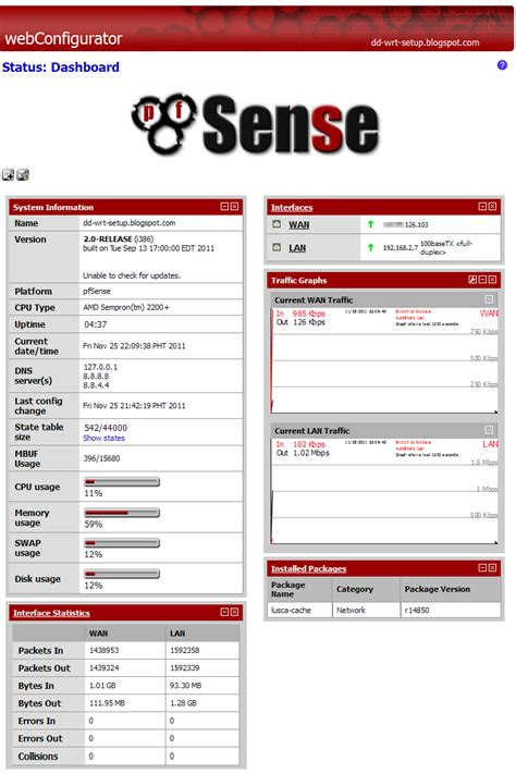 how to update pfsense packages icafetech december 2011