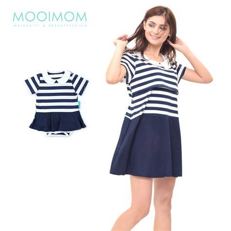 Baju Menyusui Ibu Dan Anak jual murah mooimom neck nursing dress set