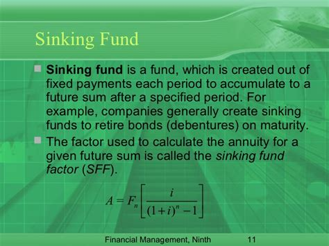 Sinking Fund Gives For The Future by Time Value Of Money