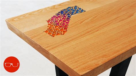 epoxy inlay coffee table  california table youtube