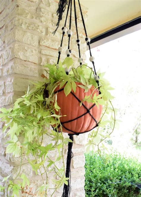 Make A Hanging Planter by How To Make A Macrame Hanging Planter For How